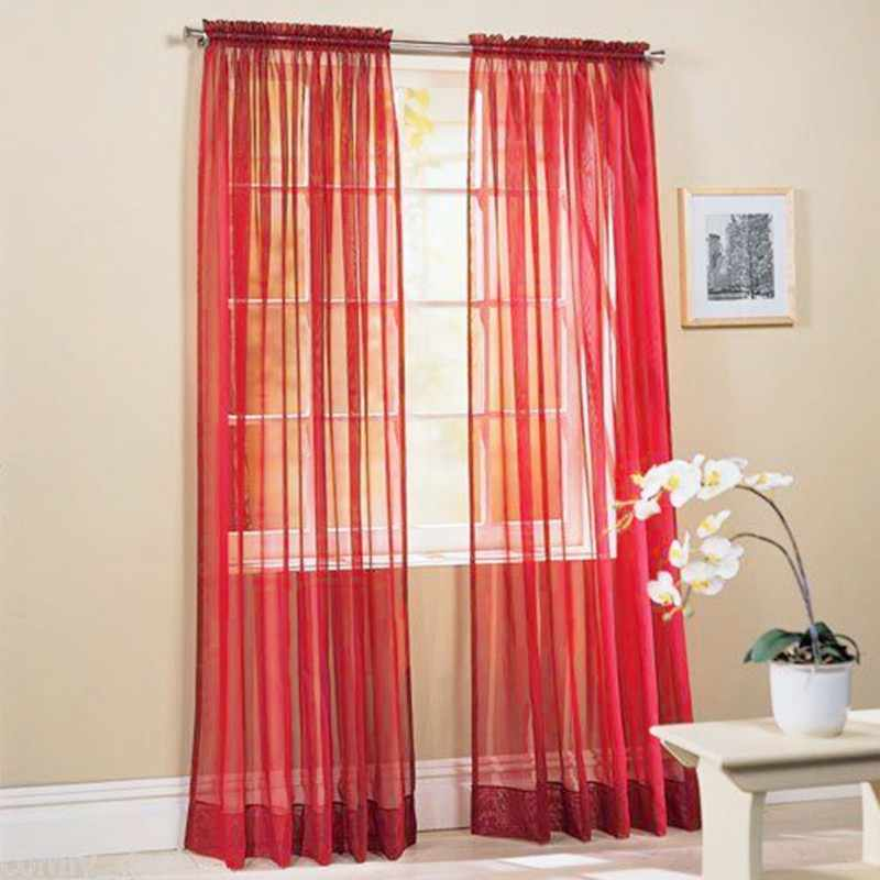 Curtains Door Bead Net Curtain Chiffon Voile Veil For Living Room Bedroom Door Window Rideaux Pour Le Salon Tulle Curtains