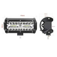 цена на 7inch 120w LED work light bar combo beam car Driving lights for Off Road truck 4WD 4x4 UAZ motorcycle ramp 12V 24V auto fog lamp