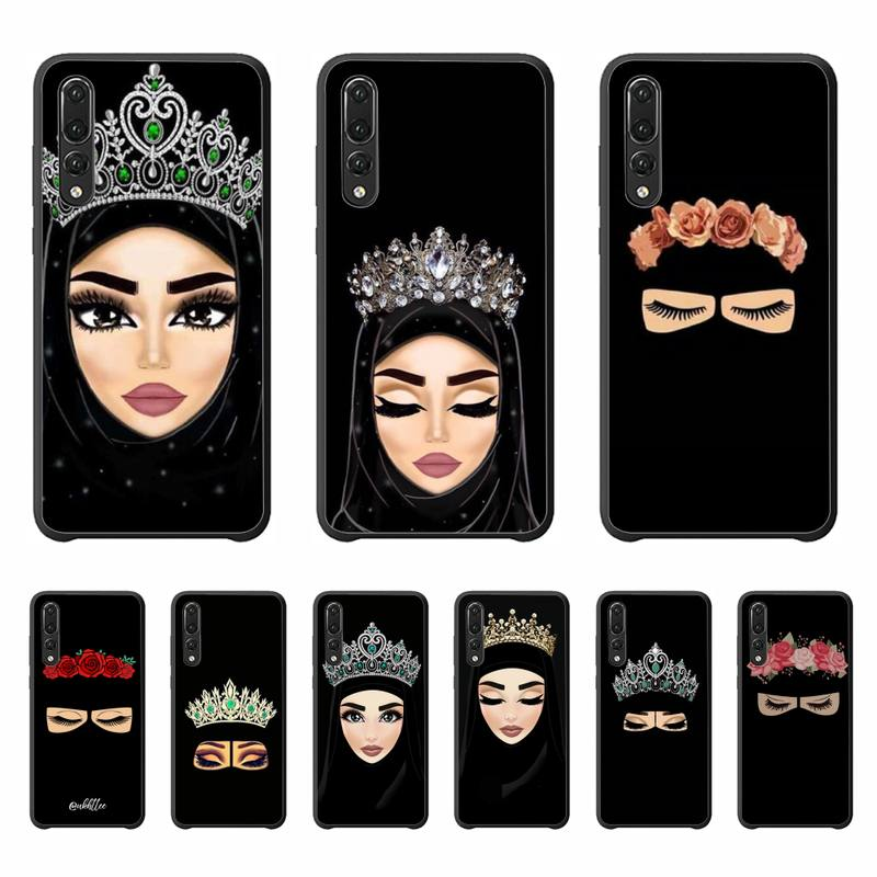 Yinuoda Woman In Hijab Face Muslim Islamic Phone Case Cover For Huawei P20 P30 Pro P20 P30 lite P smart Z Y5 Y6 Y7 Y9