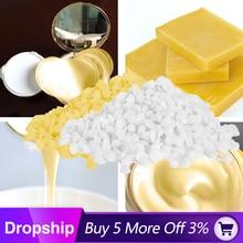 Белый/желтый пчелиный воск, сделай сам, восковая свеча, материал помады, чистый натуральный, без добавления, соевый пчелиный воск, свеча, мыло, изготовление