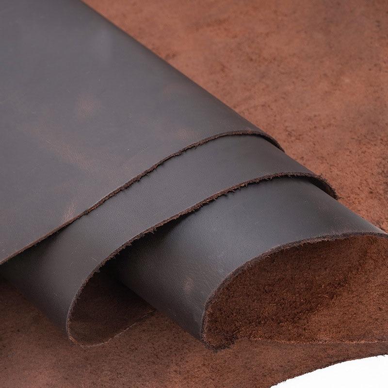 2.0mm genuíno crazy horse couro do couro genuíno para diy artesanato de couro para cinto carteira saco sapatos notebook|Couro legítimo|   -