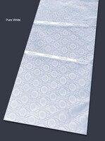 Best quality 10 yards Pure White Atiku lace very soft brocade bazin riche fabric 100% cotton Nigerian man woman sewing clothes