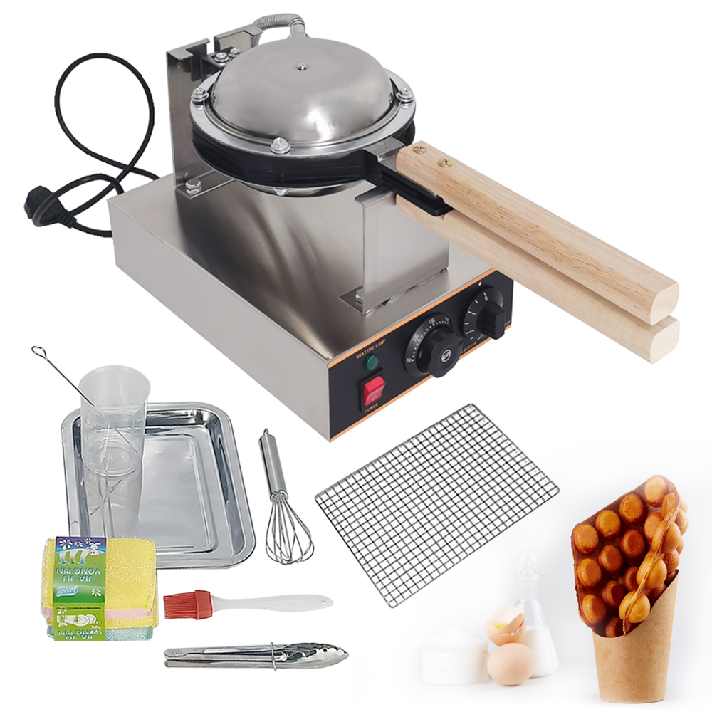 Commercial Electric Egg Bubble Waffle Maker Non stick Pan Egg Ettes Puff Cake 1400W Iron Maker Machine 220V Egg Cake Oven|Waffle Makers| |  -