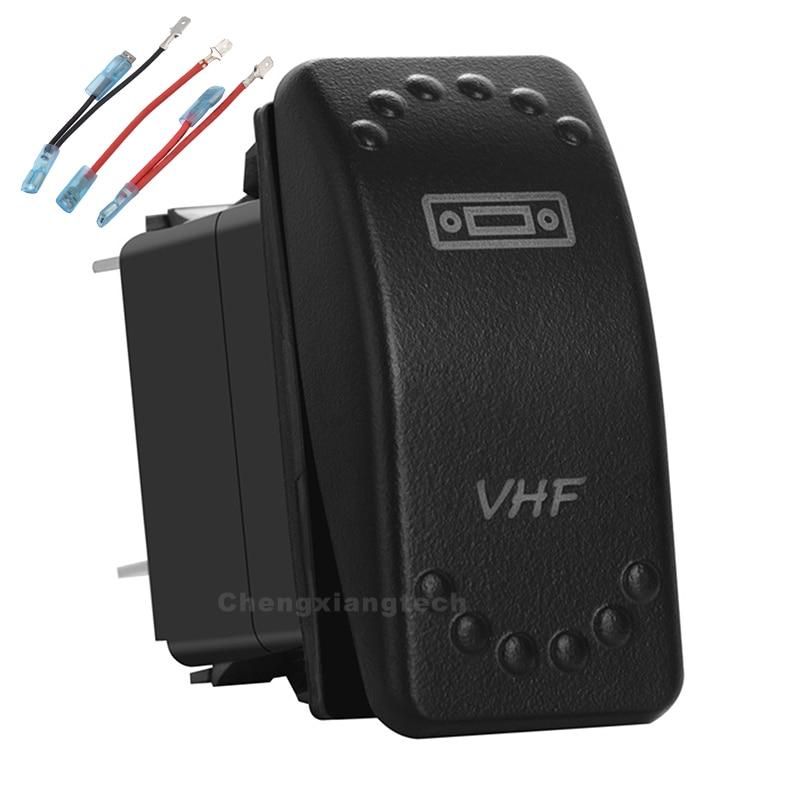 VHF Белый светодиодный перекидной переключатель 3P SPST ON/OFF 12 В/24v Защита от перегрузки + джемпер набор проводов автомобиль Лодка б/у Водонепроницаемый