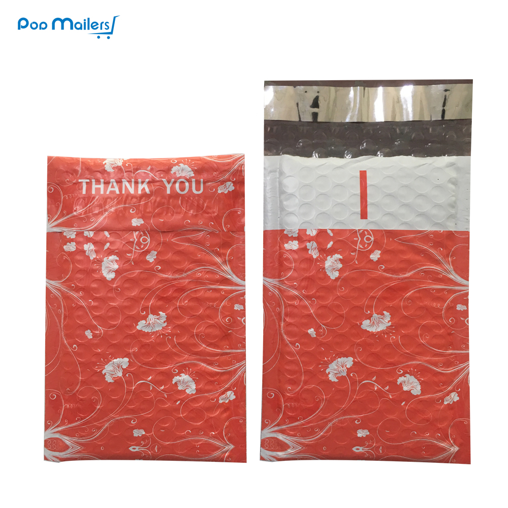 10pcs Poly Bubble Mailers 120*180mm Bubble Envelopes Printed Pattern Bubble Lined Poly Mailer