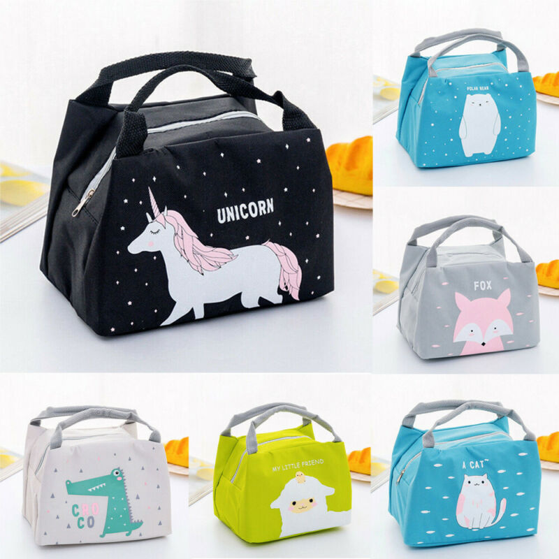 Portable Handheld Lunch Bag Women Girls Kids Portable Insulated Lunch Bag Box Picnic Tote  For Office School