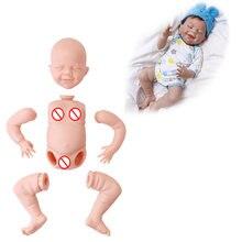Реалистичная кукла младенец reborn 17 дюймов с закрытыми глазами