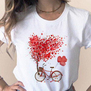 Bicycle Vogue T Shirt Women Summer Casual Tshirts Tees Harajuku Korean Style Graphic Tops 2020 Kawaii Female T-shirt,Drop Ship(China)