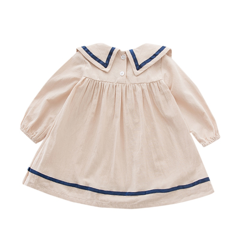 hilittlekids Spring Autumn Casual Fashion Baby Girl Solid Color Long Sleeve Princess Dress Kids 39 Clothing in Dresses from Mother amp Kids