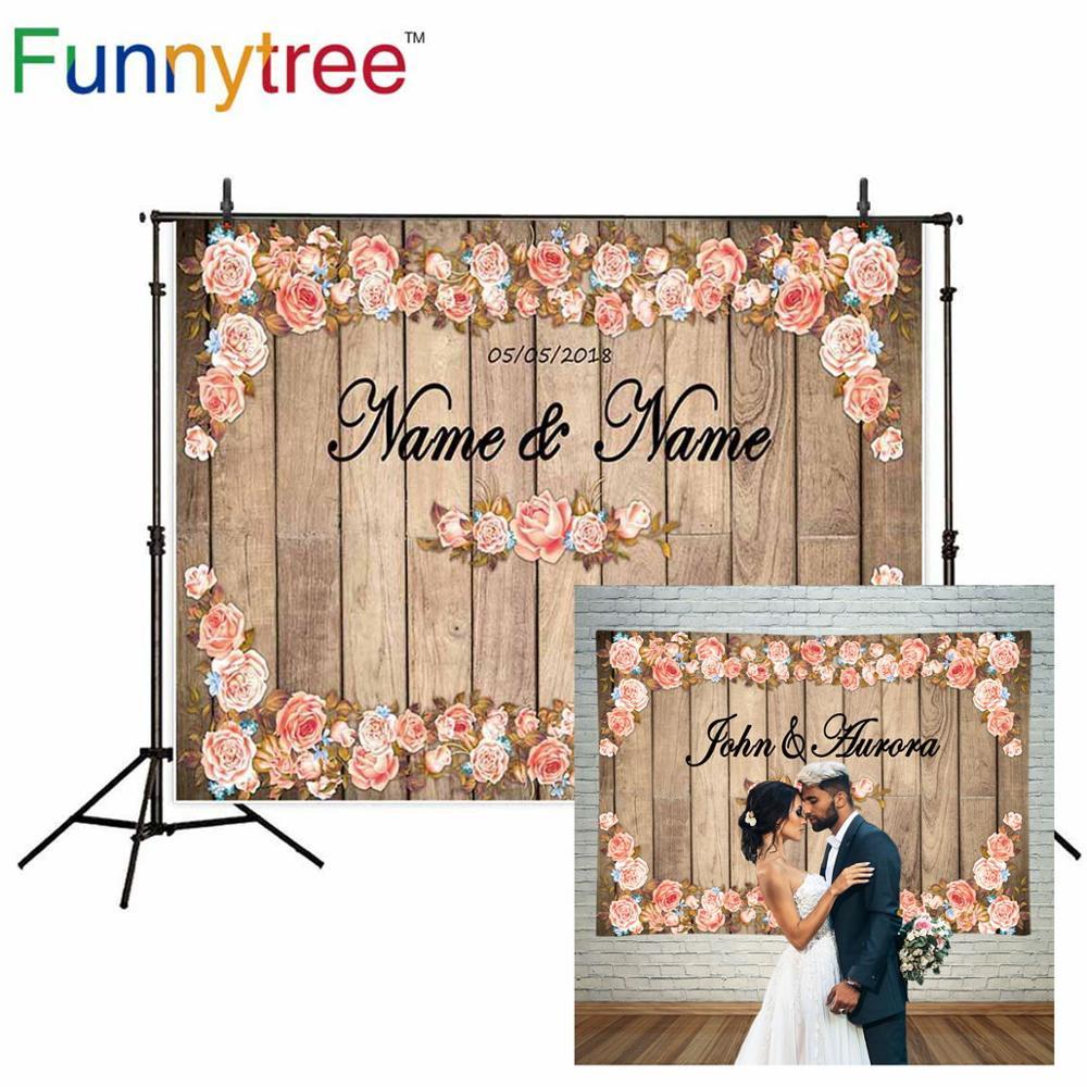 Allenjoy Photography Backdrop Vintage Wedding Photocall Wood Flowers Custom Backdrop Photo Background Studio Photozone Vinyl