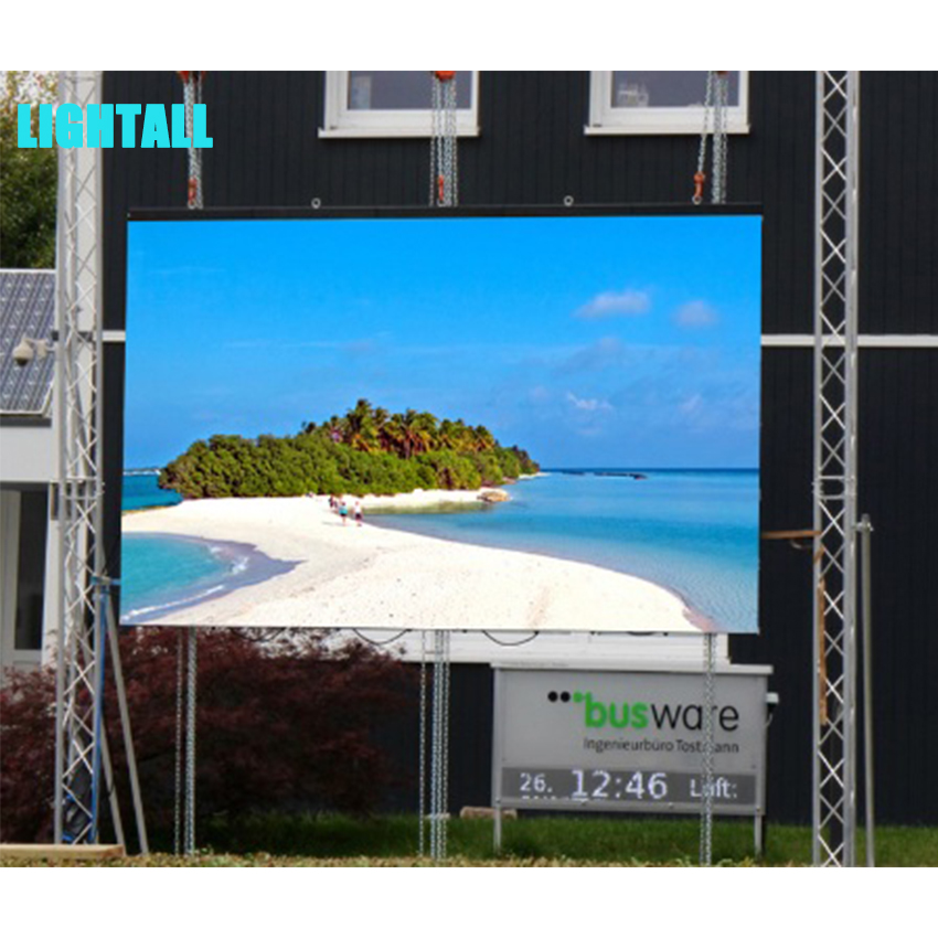 P4 Outdoor full color LED display LED screens die casting aluminum cabinet 512*512mm screen 128*128 dots advertising billboard