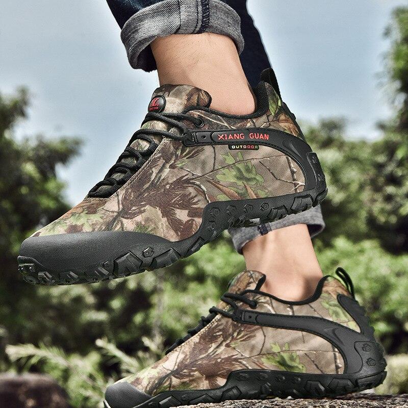 XIANG GUAN Men Hiking Shoes Women Bionic Woodland Camouflage Climbing Mountain Tactical Boots Outdoor Sports Trekking Sneakers 8