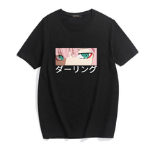 darling in the franxx anime Harajuku Zero TWO beautiful girl print women tops loose new summer short-sleeve chic female T-shirt