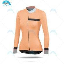 Женская велосипедная футболка с длинным рукавом одежда весна