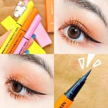 Xixi colorido lápis delineador rosa amarelo laranja apperance longa duração à prova dsmooth água suave líquido caneta delineador preto ac229