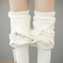 Sonbahar Kış Artı Kadife Kalın Kadınlar Tayt Uzun Pantolon kalem pantolon Beyaz Siyah Streç Sıska Yüksek Bel Tayt C5782