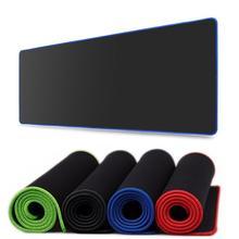 Чистый черный большой игровой коврик для мыши, красочный Коврик для мыши с локкежем, коврик для клавиатуры, Настольный коврик для ноутбука, геймера, коврик для мыши