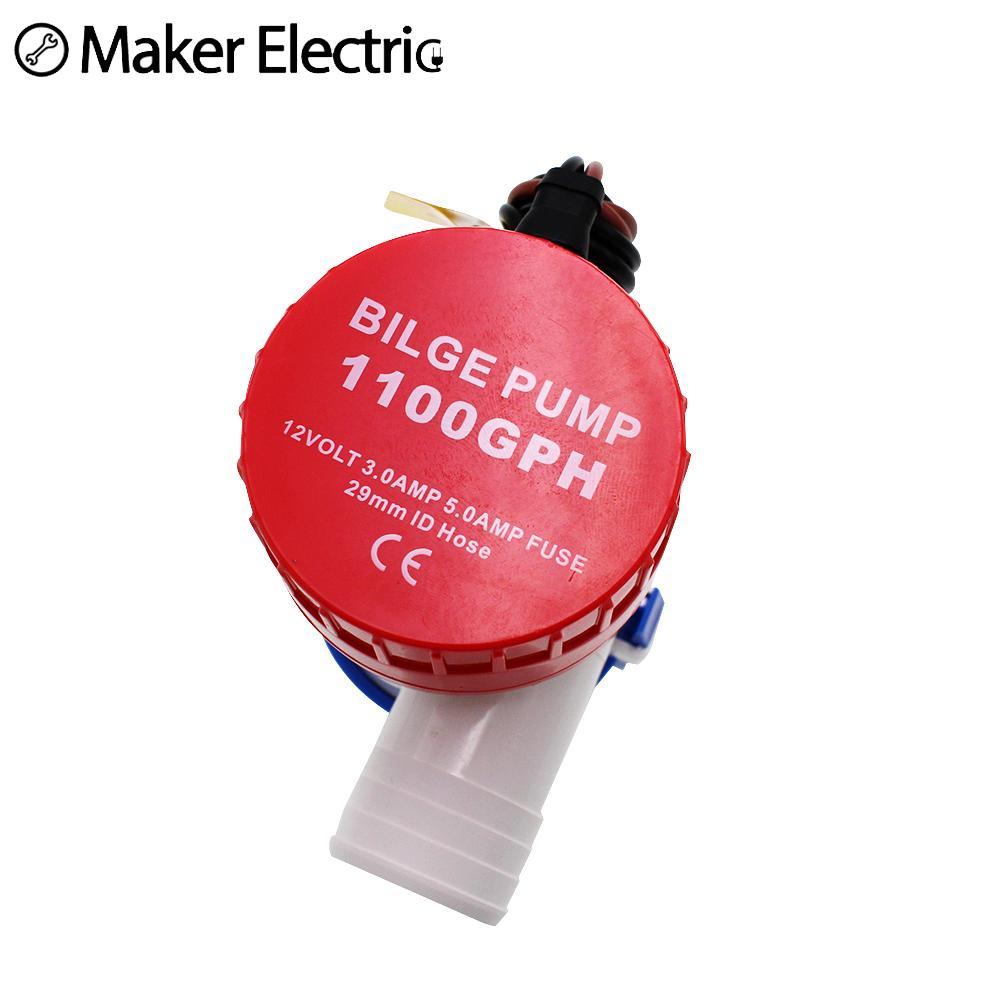 Bilge Pump 12v 1100gph MKBP-G1100-12 12VDC Rule Water Pump Used In Boat Seaplane Motor Homes  Houseboat