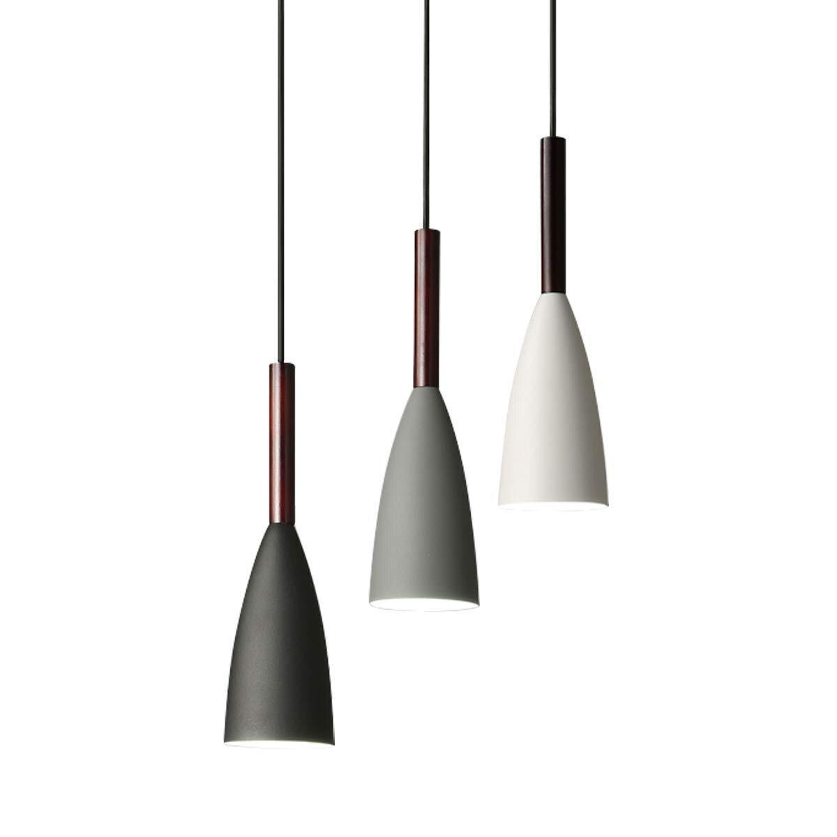 Moderne 3 pendentif éclairage nordique minimaliste pendentif lumières sur Table à manger cuisine île suspendus lampes salle à manger lumières E27 - 2