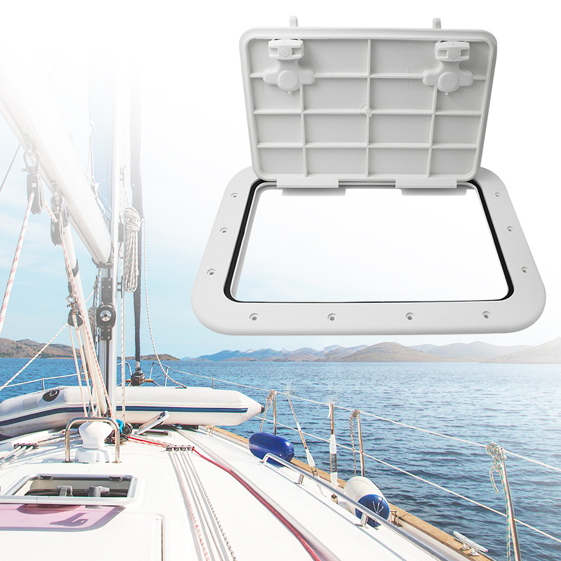 Image 5 - 425*315mm Marine Access Hatch ABS White Marine Hatch Deck For Boat Yacht RV Non Slip Removal Knob Anti Aging Boat Accessories-in Marine Hardware from Automobiles & Motorcycles