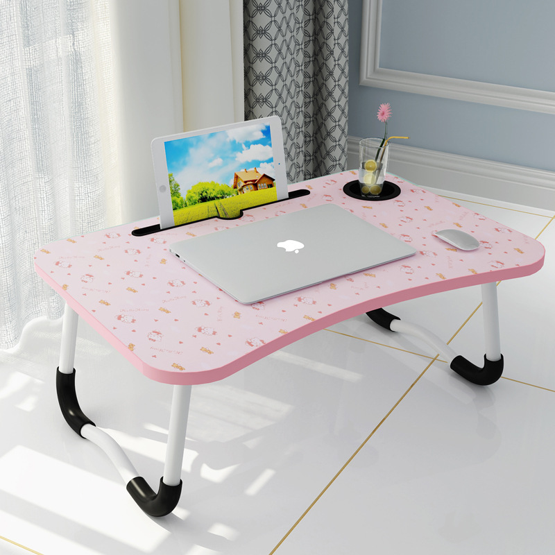 Laptop Table Bed Item Foldable Lazy Students Dormitory Learning Desk Simple Small Table On Behalf