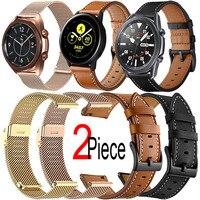 Armband Voor Samsung Galaxy Horloge 3 41Mm/45Mm/46Mm/42Mm Actieve 2/3 40mm/44Mm Gear S3/S4/S2 Klassieke Riem Leer/Milanese Band