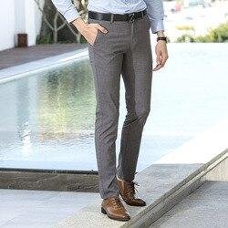 2018 frühling Und Herbst Neue Stil Hosen Männer Jugend Korean-stil Dünne Slim Fit Einfarbig Micro Elastische Beiläufige gerade-Cut Pan