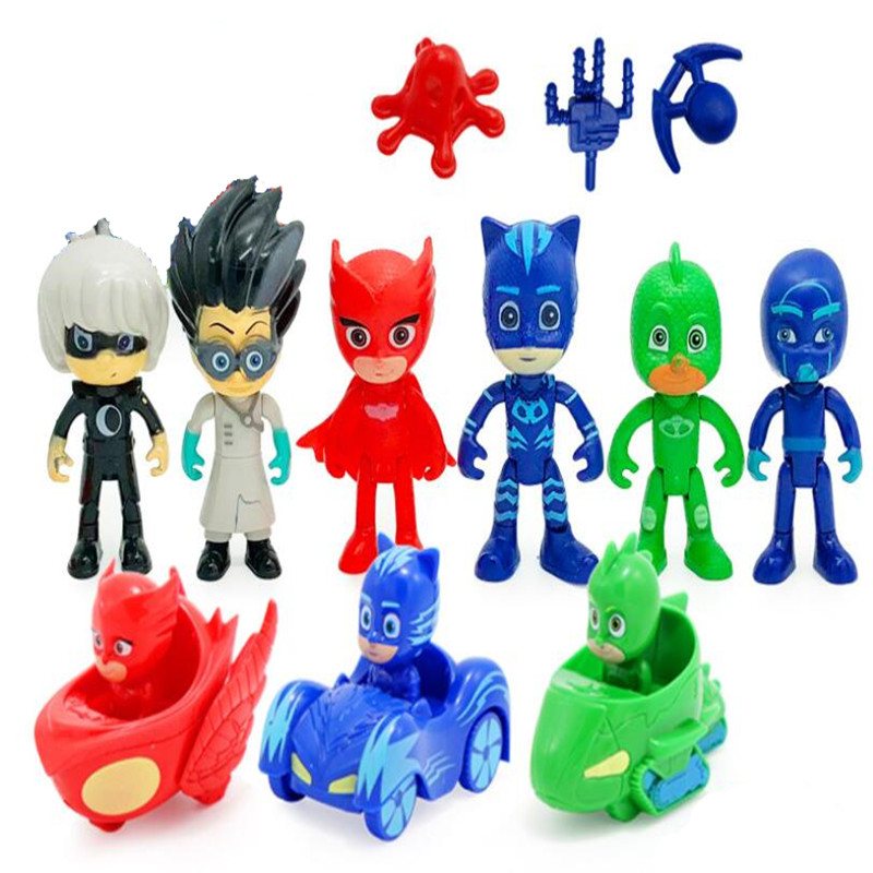 Complete Series Pj Masks Movie & TV Mask Cloak Car Action Figure Model Anime Kids Toys Children Birthday Gifts