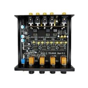 Image 4 - HIFI селектор сигнала распределителя звука с 1 входом и 4 выходами RCA HUB, переключатель источника, переключатель тона громкости для платы усилителя