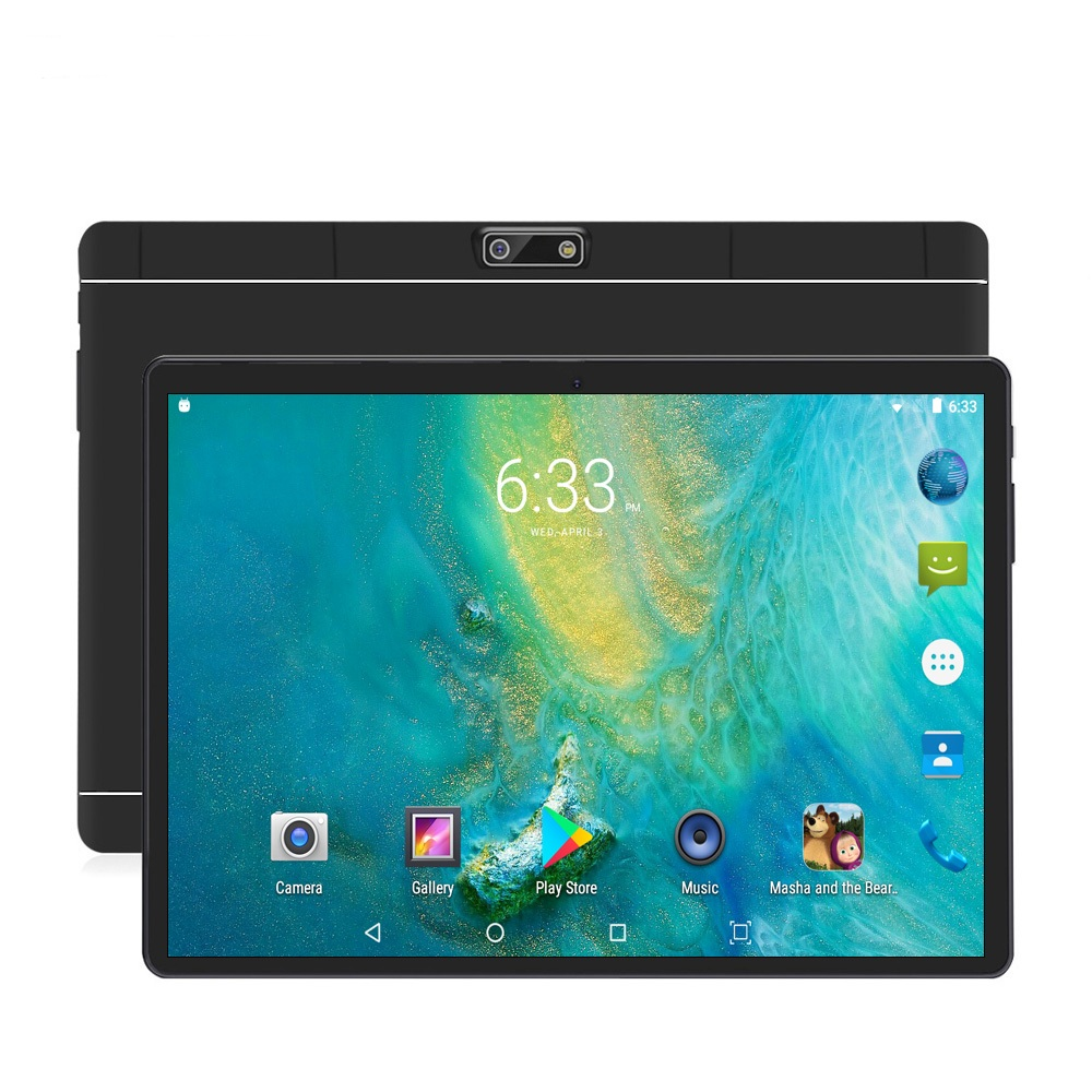 New 10 Inch 4G Phone Call Tablets Android 7.0 Octa Core 4G+64G Tablet Pc 3G 4G LTE Dual SIM Card Laptop WiFi GPS Bluetooth Tab