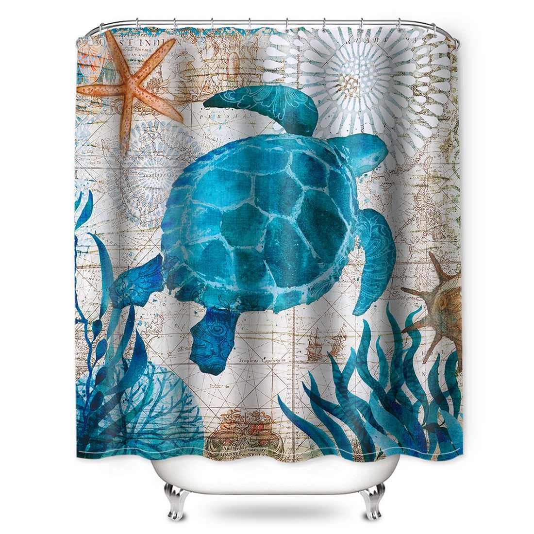DIDIHOU עמיד למים מקלחת וילון עם ווים 3D נוף ציור הדפסת מקלחת וילון אמבטיה רחצה וילונות 180x180cm