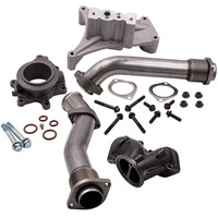For 1999.5 2003 Ford 7.3 Powerstroke Diesel Bellowed Up Pipes Turbo Pedestal&Housing