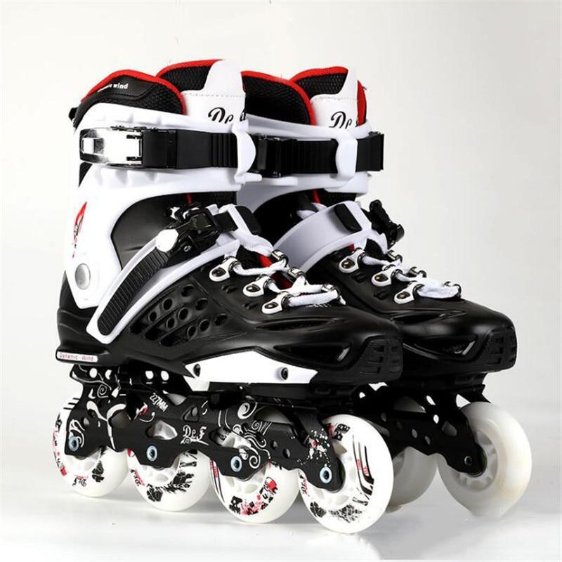 Breathable Sliding Inline Skates Adults Kids Professional Roller Skates Men Women Street Free Skating Patines White/purple/black