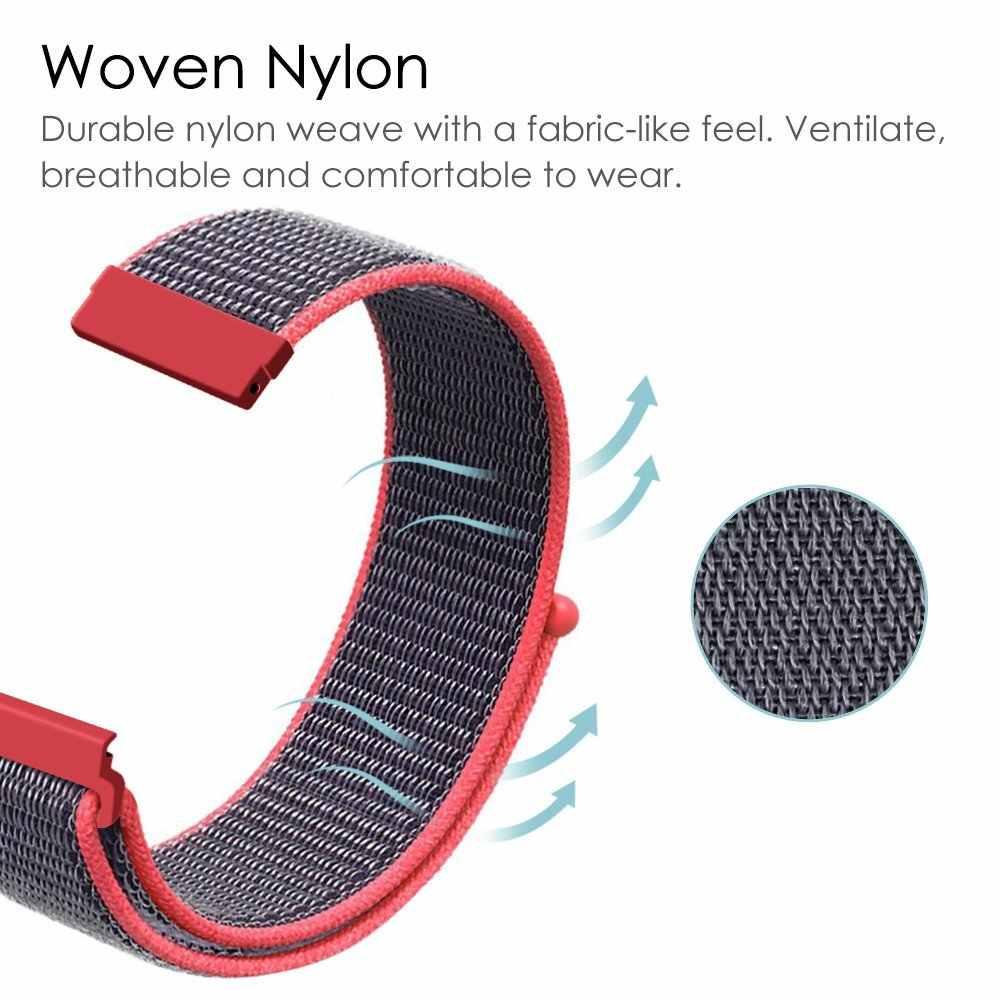 UEBN 20mm 22mm ניילון ספורט לולאה רצועת החלפת להקת עבור xiaomi Huami רצועת Amazfit ביפ GTS/GTR 42mm 47mm watchbands