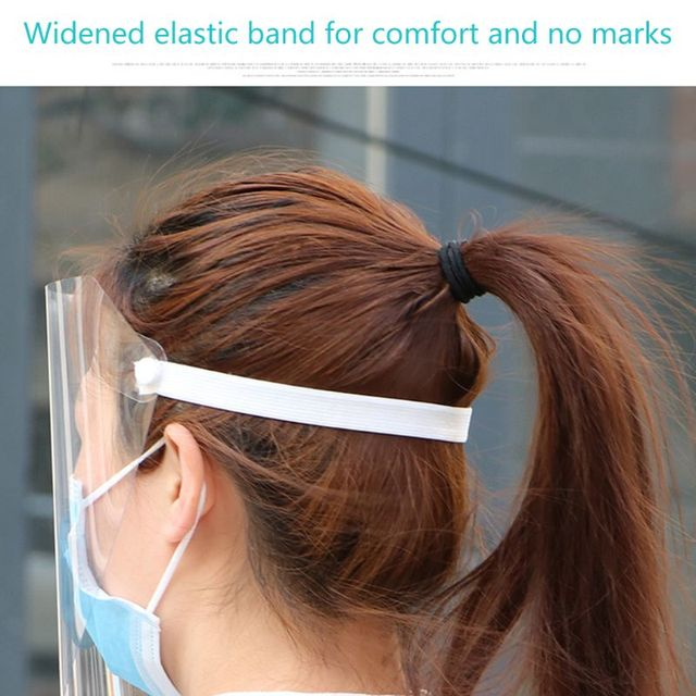 Transparent Anti-saliva Dust-proof Protect Full Face Covering Mask Visor Shield 4