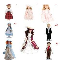 Casa de bonecas em miniatura porcelana bonecas casa de bonecas vitoriana beleza senhora venda quente 1:12