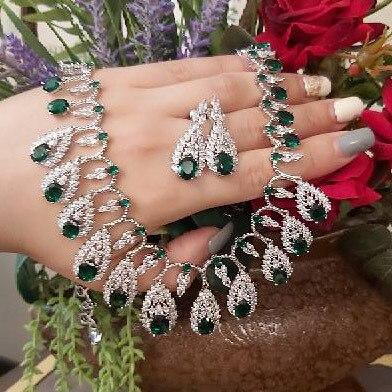 Bridal Zirconia Necklace Set 3