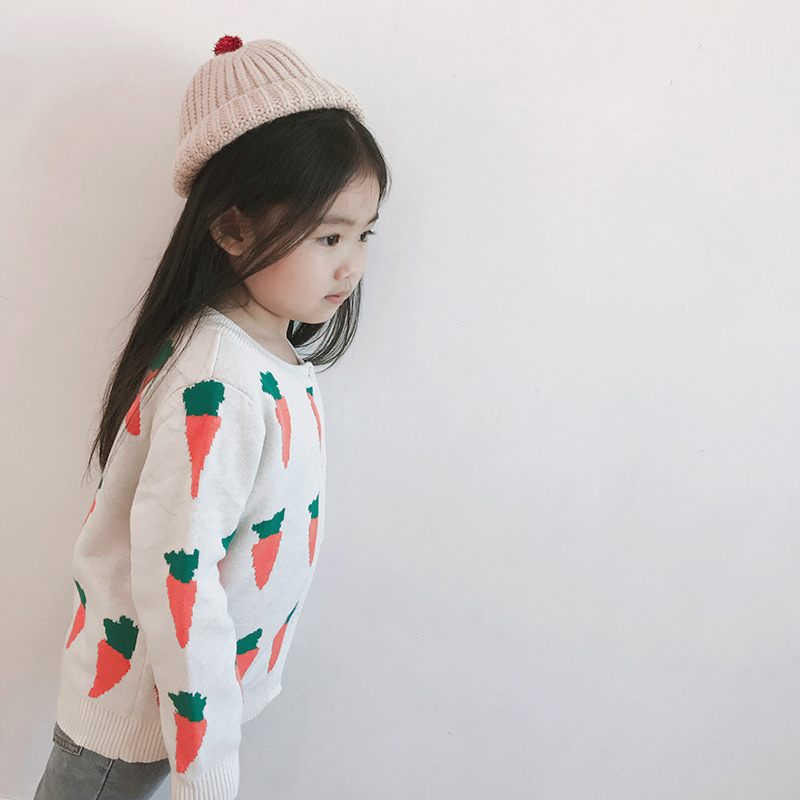 Autumn Kids Cardigans Sweaters Baby Girls Boys Knitted Outerwear Jacket Toddler Cotton Coat Printing Spring Children Sweater 3