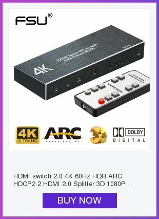 Hf4d2e38ee50e442ca1592ac0133ab6c0o HDCP 4K HDMI Splitter Full HD 1080p Video HDMI Switch Switcher 1X2 Split 1 in 2 Out Amplifier Dual Display For HDTV DVD PS3 Xbox