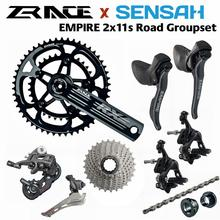 SENSAH EMPIRE + ZRACE Crank Brake Cassette Chain, 2x11 Speed, 22s Road Groupset, for Road bike Bicycle 5800, R7000