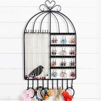 Creative earring rack wall hanging ornaments display rack jewelry rack hanging wall necklace rack earring pendant home storage фото