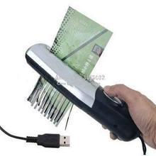 Прямая с фабрики офисный USB аккумулятор двойного назначения электрический бумажный шредер дробилка инструмент мини ручной станок для резки бумаги