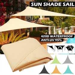 3-5M wodoodporny trójkąt markiza żagiel przeciwsłoneczny słońce na zewnątrz słońce schronienie żagiel przeciwsłoneczny ogród Patio basen Camping namiot piknikowy