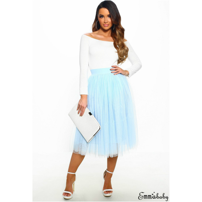 Boho Women Layers Tulle High Waist Maxi Skirt Ladies Casual Club Cocktail Party Bridesmaid Midi A-Line Skirts