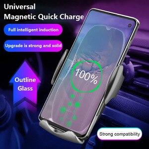 Image 3 - Chargeur de voiture sans fil rapide 15W pour iPhone 11 XS XR X 8 7 Samsung S20 S10 Qi capteur automatique magnétique USB pour Xiaomi Redmi Huawei