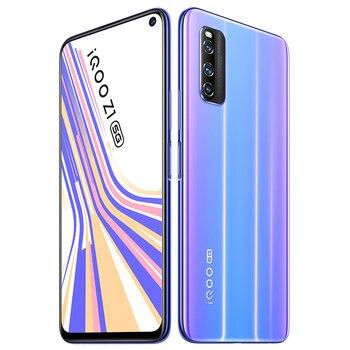 Перейти на Алиэкспресс и купить Оригинальный vivo IQOO Z1 5G Celular MediaTek 1000Plus 6 ГБ 128 ГБ отпечаток пальца + распознавание лица 6,57 ''полный экран 44 Вт зарядка мобильного телефона