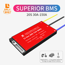 Daly bms 20S 72V 30A 40A 50A 60A 150A 3.7V li-ion for lithium battery For Rechargeable Lithium With Separate port balance