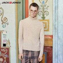 Jackjones masculino inteligente casual básico de manga comprida camisola de gola alta 219324520