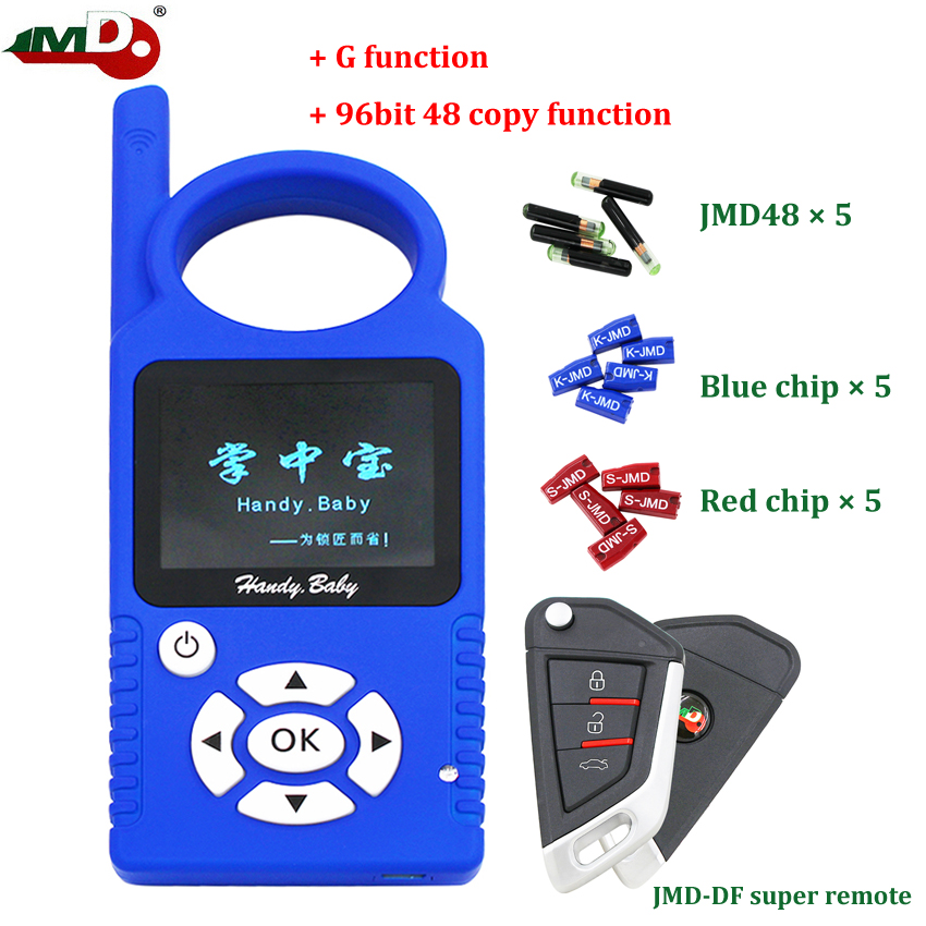 Original JMD Handy Baby V9 0 5 Auto Key Programmer Hand-held Car Key Copier for 4D 46 48 G KING Red Chip with Super Remote and G