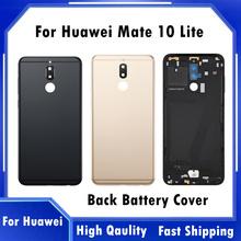 Wysokiej jakości pokrywa baterii dla Huawei Mate 10 lite tylna obudowa baterii przypadku HUAWEI Nova 2i RNE L21 metalowa obudowa tanie tanio CN (pochodzenie) for huawei mate 10 lite Mate 10 lite Nova 2i black blue gold RNE-L02 RNE-L03 RNE-L01 RNE-L21 RNE-L23 5 9 quot